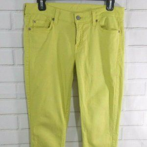 7 Seven for all Mankind Women Jeans Sz 30 Yellow